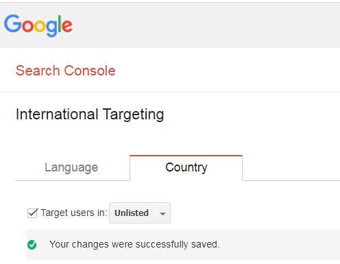 הגדרת יעד שם דומיין ב-search console